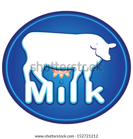 milk,milk sign,vector milk symbol,MILK hand lettering,handmade calligraphy,calligraphy with cow breast.editable illustration - stock vector