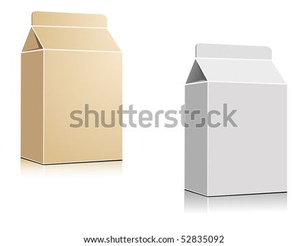 Milk or juice containers. Jpeg version also available in gallery - stock vector