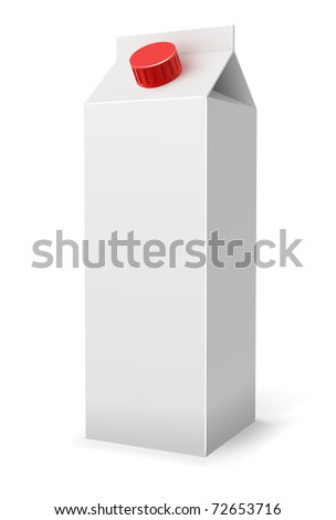Milk or juice pack realistic vector illustration. - stock vector