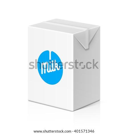 Milk or juice package mock up, 200ml. Vector illustration. - stock vector