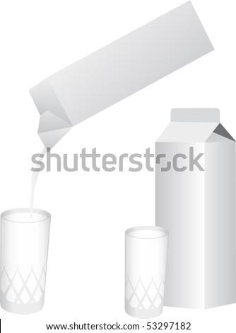 Milk vector - stock vector