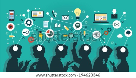 Mind Map Team - Illustration - stock vector