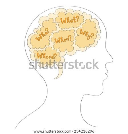 Mind map vector illustration - stock vector