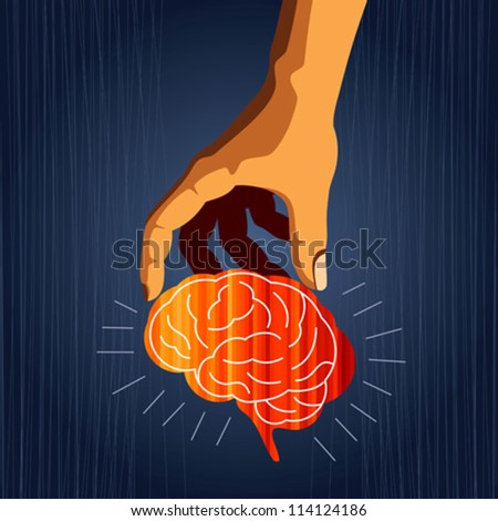 mind with hand