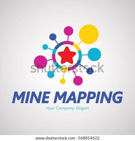 Mine Mapping Logo Design Creative Business Stock Vector 568854622 ...
