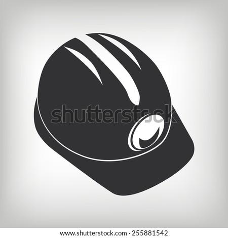 Miner helmet - stock vector
