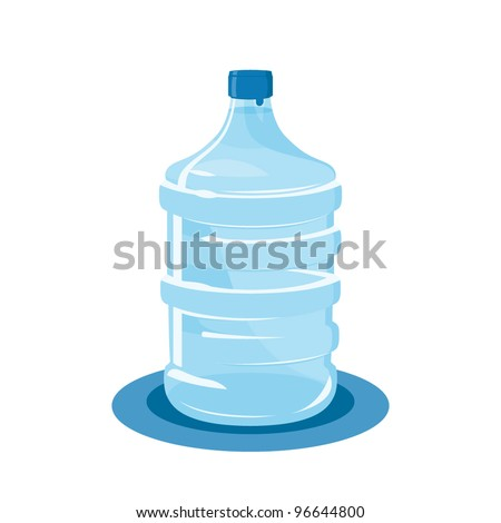 mineral water bottle isolated on white - stock vector