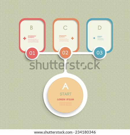 Minimal  circle infographics template design. label design with place for your content.communication, business, social media, technology, network and web design. Parts of infographic. Vector elements. - stock vector