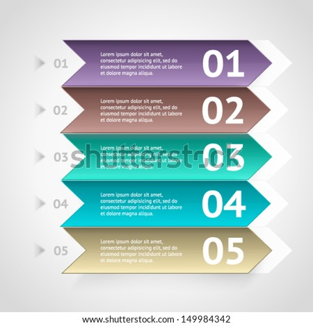Minimal colorful infographics elements. Vector elements. Parts of infographic. - stock vector