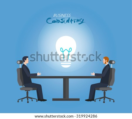 Minimal flat character of business consulting concept illustrations  - stock vector