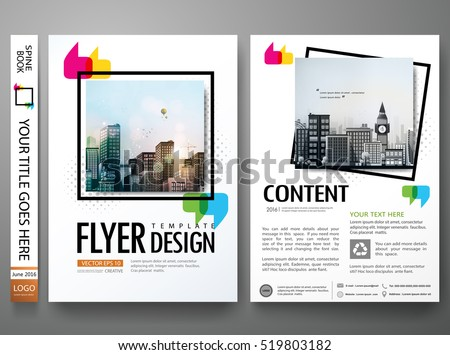 Minimal flyers report business magazine poster layout portfolio template.Brochure design template vector.Square layout in cover book portfolio presentation poster.City design on A4 brochure layout.