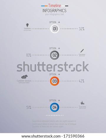 Minimal infographics design. Vector - stock vector