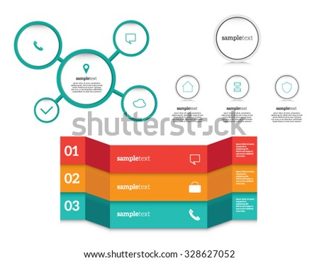 Minimal infographics. Vector Set  - stock vector
