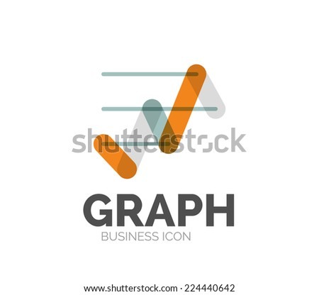 Minimal line design logo, business icon, branding emblem - stock vector