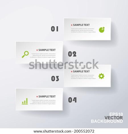 Minimal Paper Cut Infographics Design - stock vector