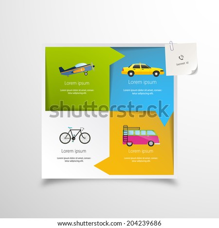 Minimal Travel Infographics Design Vector eps 10 - stock vector