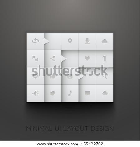 Minimal UI Layout Design  - stock vector
