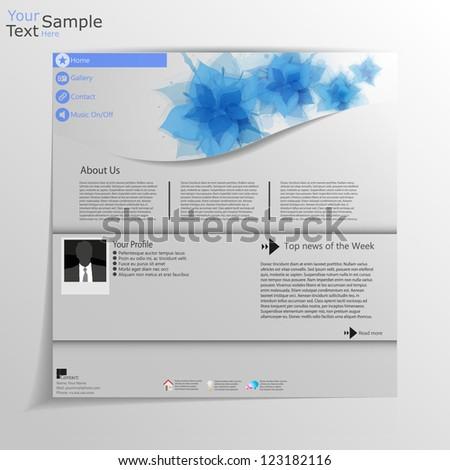 Minimal web site Template - stock vector