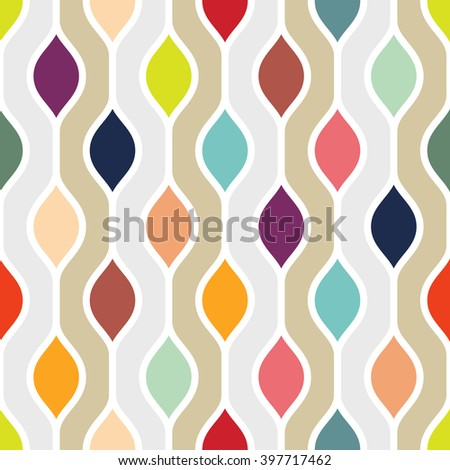 Minimalist colorful retro pattern