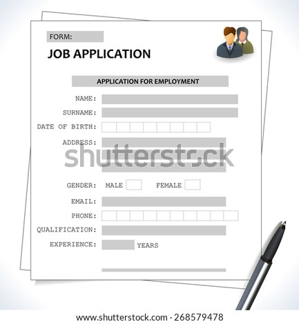 template for application
