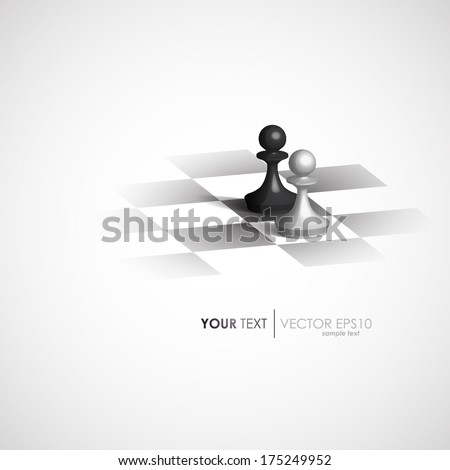 Minimalist design vector chess - stock vector