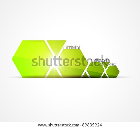 Minimalist green background. Vector illustration. - stock vector