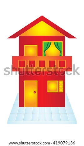 Minimalist house design stock vector 419079217 shutterstock for Minimalist house logo