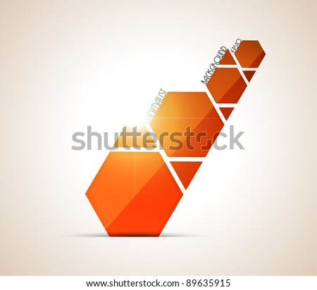 Minimalist orange background. Vector illustration. - stock vector