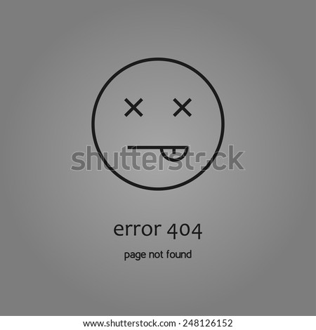 minimalistic error 404 icon - stock vector