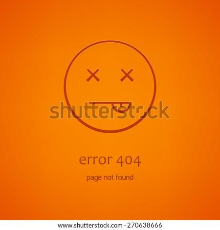 minimalistic error 404 icon - stock vector