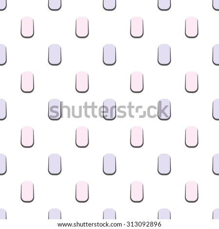 Minimalistic geometric pastel seamless vector pattern. Gentle texture with simple shapes for wallpaper and background.