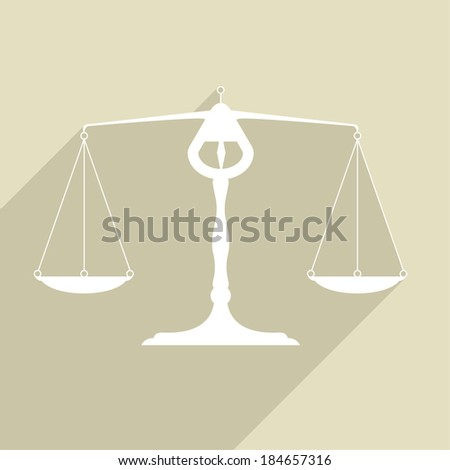 minimalistic illustration of a balance, eps10 vector - stock vector