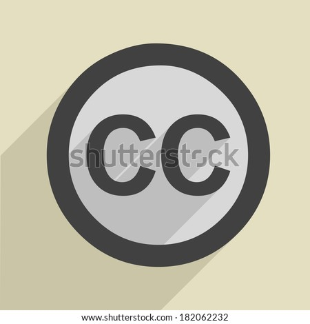 minimalistic illustration of a creative commons icon, eps10 vector - stock vector