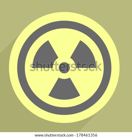 minimalistic illustration of a radiation icon, eps10 vector - stock vector