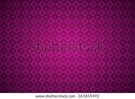 Minimalistic poker background with texture composed from card symbols - stock vector
