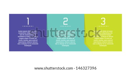 Minimalistic Progress Template - stock vector