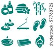 Minimalistic SPA icons set - stock vector