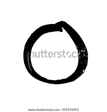 Minimalistic vector Enso zen circle. High quality hand drawn isolated element. Real brush.