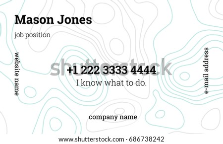 White Blue Business Card Template Nutritionist Stock Vector - Business card template size