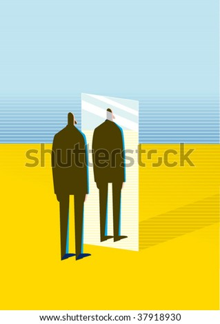 mirror - stock vector