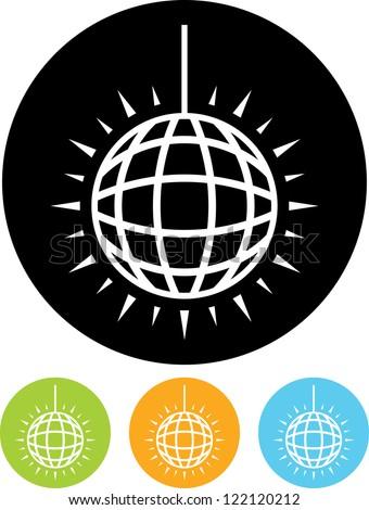 Mirror Ball - Vector icon isolated - stock vector