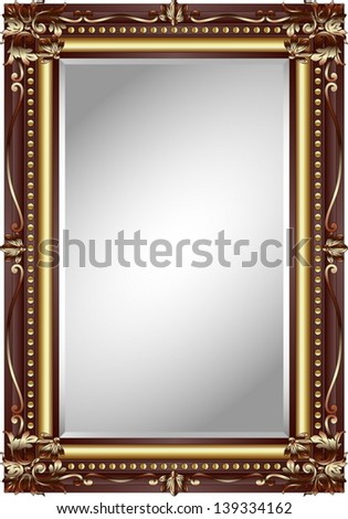 mirror frame - stock vector