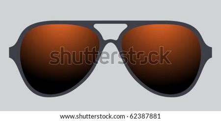 mirror glasses - stock vector