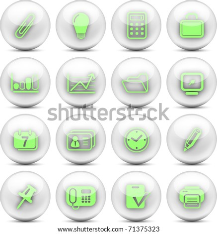 Miscellaneous office vector icons - EPS10 - stock vector