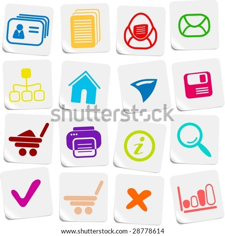 Miscellaneous vector web icons - stock vector