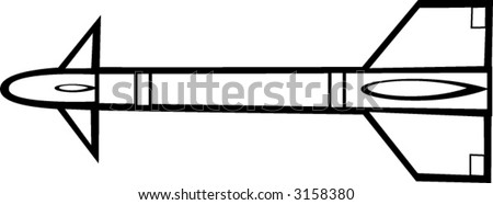 missile - stock vector