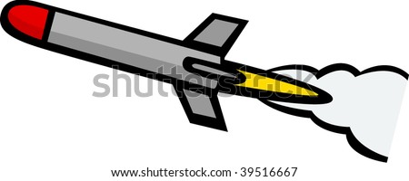missile rocket - stock vector