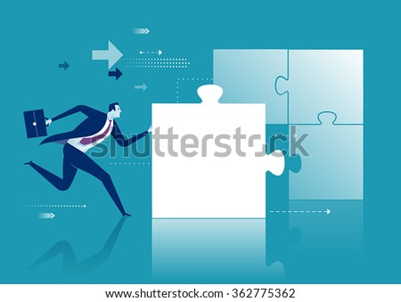 Missing Piece. Business concept illustration. - stock vector