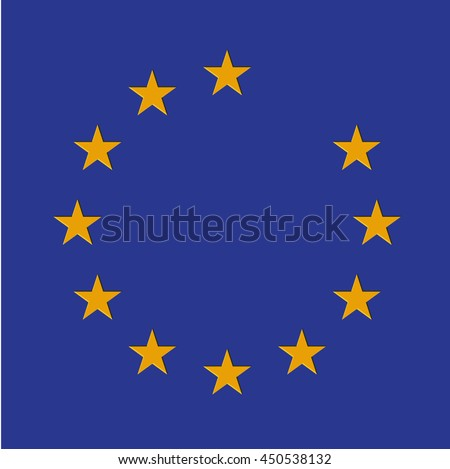 Missing star from the EU flag, vector - stock vector