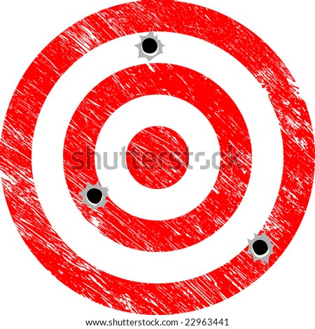 Missing the Target (Grunge Vector) - stock vector
